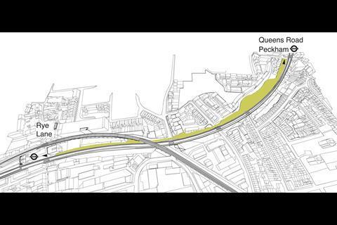 Peckham Coal Line - map